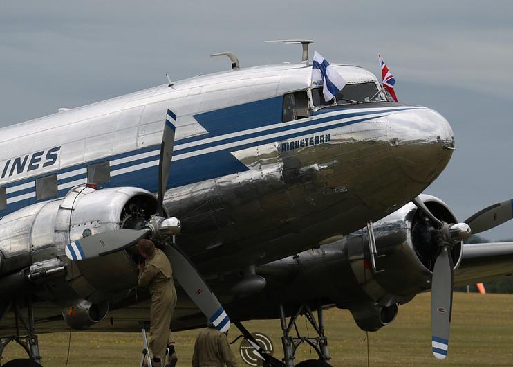 Finnish Airlines Daks over Duxford June