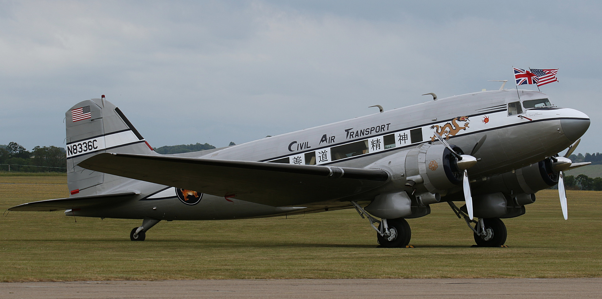 Civil Air Transport Daks over Duxford Ju