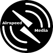 Airspeed Media Logo White on Black circl