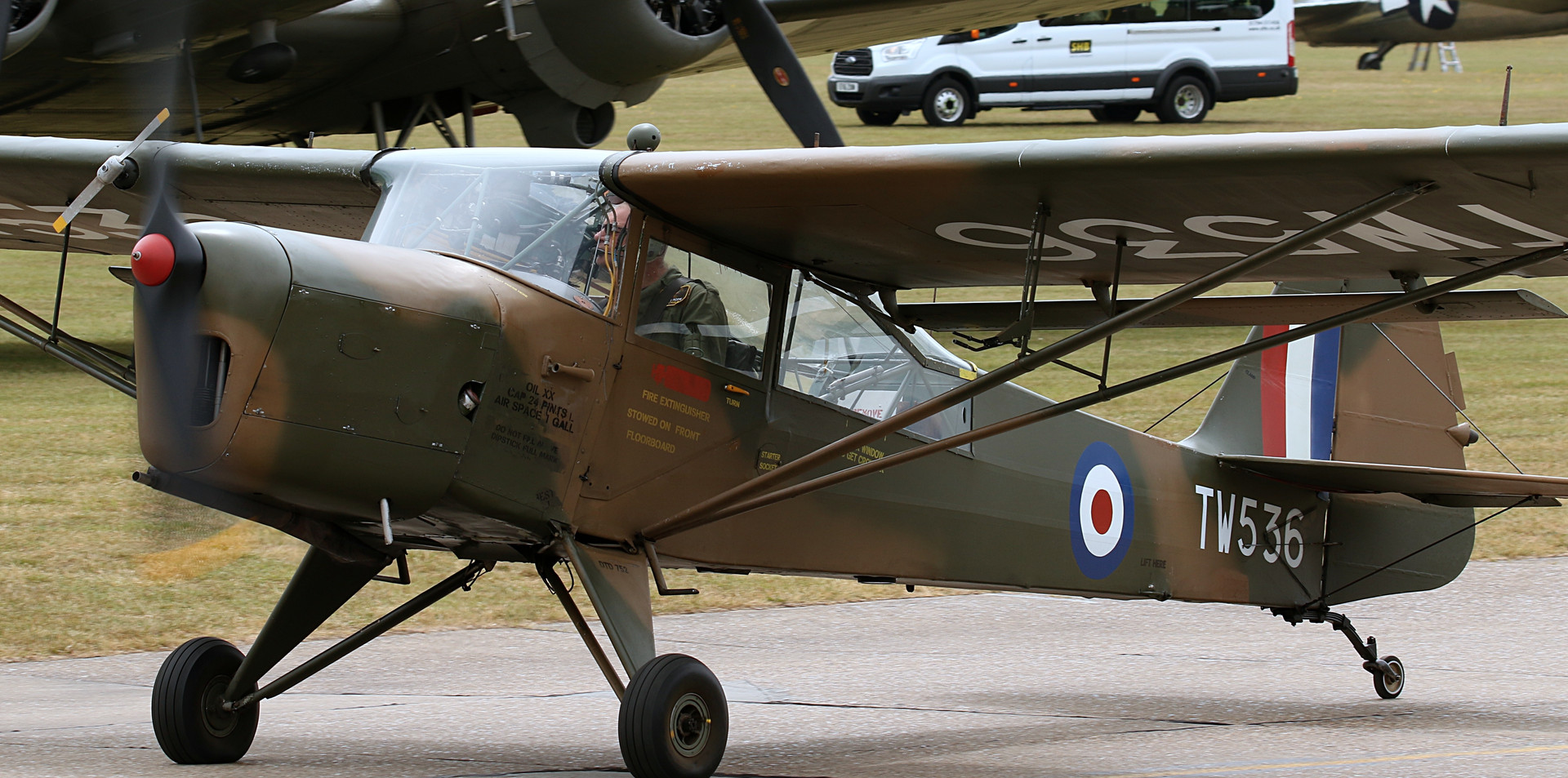 Auster Daks over Duxford June 2019 (93).