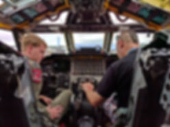 Inside the cockpit B52H RIAT 16th July 2