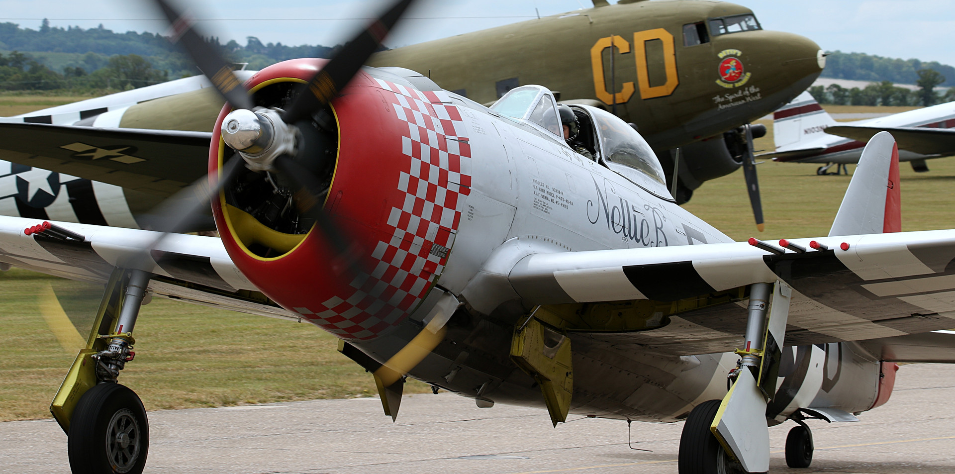 P-47 Thunderbolt Daks over Duxford June