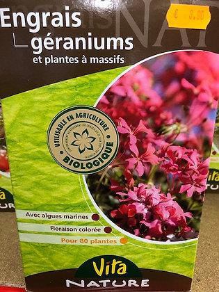 Engrais plantes à massifs et géraniums 800gr