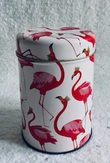 Boite à thé/biscuit Flamant rose Sara Miller