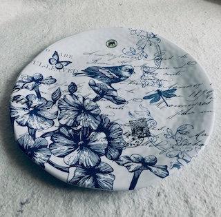 Grand plat de service 45CM Mélamine indigo bleu