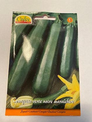 Sachet semence Courgette verte noire maraichère
