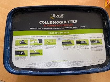 Bostik Colle Moquettes et Fibres Naturelles - Seau de 3.5KG
