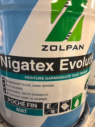 Peinture blanche mate nigatex evolution - zolpan 16L