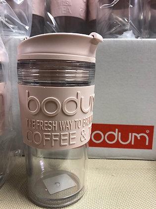 Mug de voyage isotherme en inox double paroi, couvercle à clapet, 0.35 l