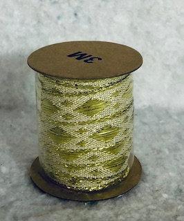 Bolduc doré losange 3mx5mm