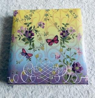 Notebook 150 feuilles avec stylo violet bleu et jaune