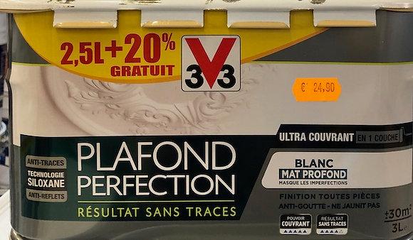 Peinture plafond V33 Perfection blanc mat 3 l