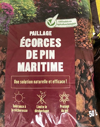 Écorce de pin maritime 20/40 50L