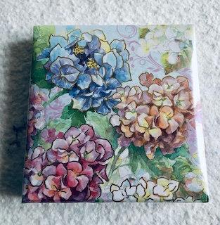 Notebook 150 feuilles avec stylo hortensia