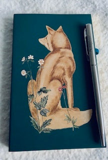 Notebook + stylo Renard bords dorés