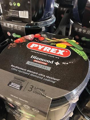 Casseroles avec couvercle Pyrex diamètre 20cm
