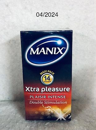 MANIX PRÉSERVATIFS XTRA PLEASURE PLAISIR INTENSE X14