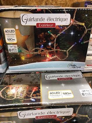 Guirlande électrique Extérieur 60 LED longueur 9,80m