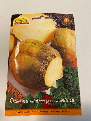 Sachet Chou-navet rutabaga jaune à collet vert