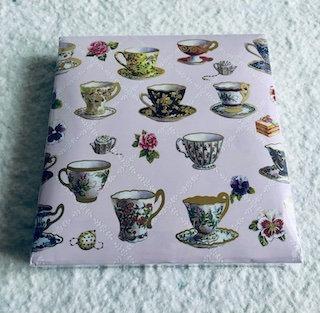 Notebook 150 feuilles avec stylo tasses de thé