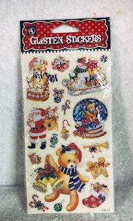 Stickers de Noël assortis Ourson tambour