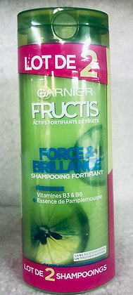 Lot de 2 Shampooings fortifiant Fructis Force and Brillance