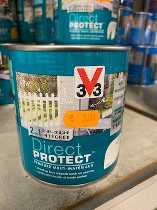 Peinture V33 Multi-Matériaux Direct Protect Blanc satin 0,5 L