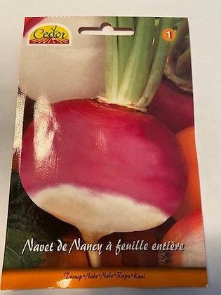Sachet semence Navet à feuille entière