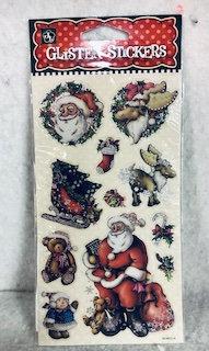 Stickers de Noël assortis tête pèreNoël