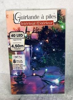 Guirlande de Noël à piles multicouleurs