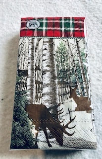Serviettes papier rectangle x15 Cerfs et forêt gamme Luxe