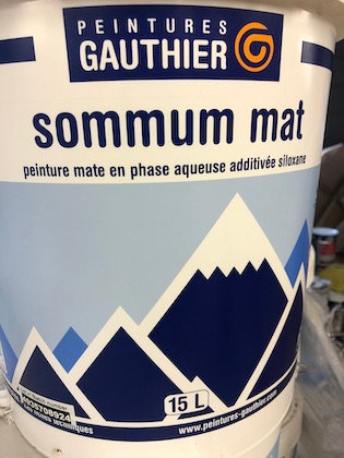 Peinture Gauthier Sommum Mat Blanc 15L