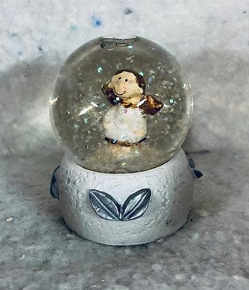 Boule à neige deco blanche et argentée