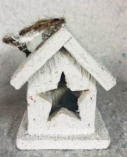 Déco à suspendre ou poser maison bois blanche