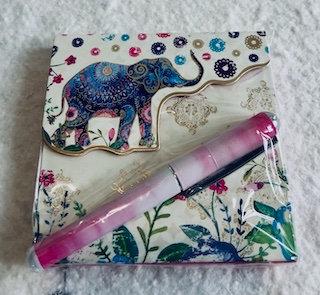 Carnet notebook  avec stylo Éléphant