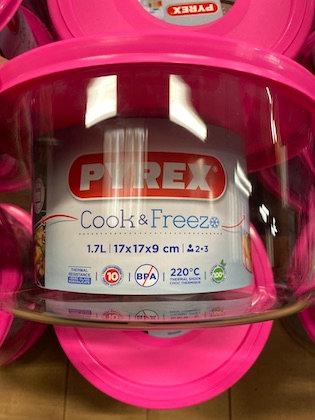 Pyrex - Cook & freeze - Plat Rond en Verre avec Couvercle17x17x9