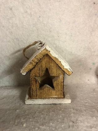 Maison/chalet en bois et paillettes à suspendre ou poser