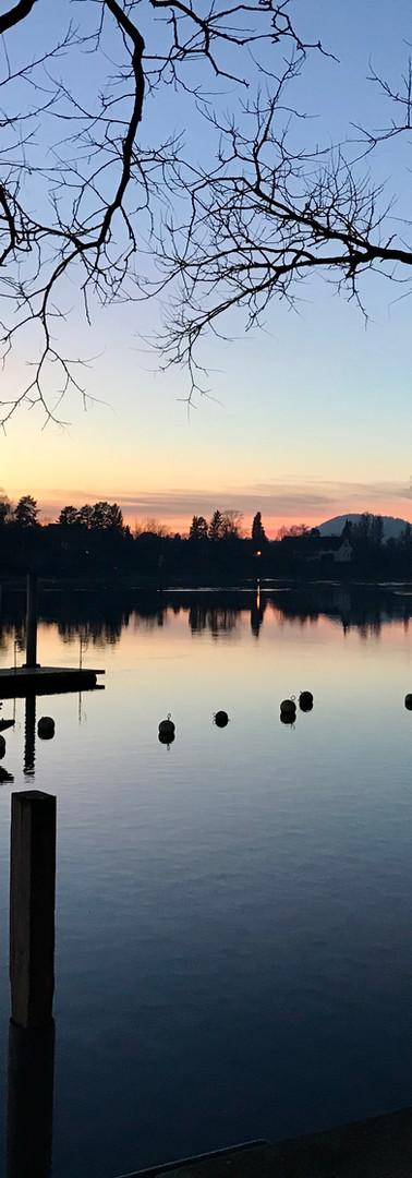 Stein am Rhein, die Praxis mit Blick auf den Rhein