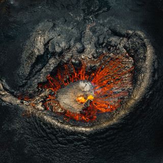 The eye of the volcano