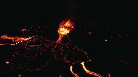 Lava dance in the night