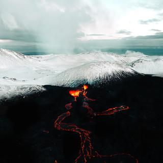 Volcano contrasts