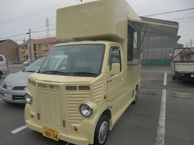 フレンチバスタイプの移動販売車|キッチンカー移動販売車製作