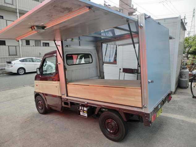 軽トラの移動販売車|キッチンカー移動販売車製作