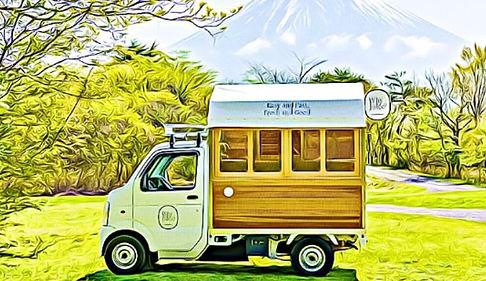 小型キッチンカー|キッチンカー専門の誠矢製作所のイラストキッチンカー移動販売車製作