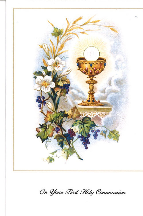 First Holy Communion Small Mass Card