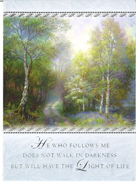 He Who Follows Me Small Mass Card