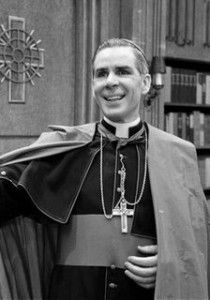 Fulton-Sheen-with-SPOF-Logo-behind-BW-21