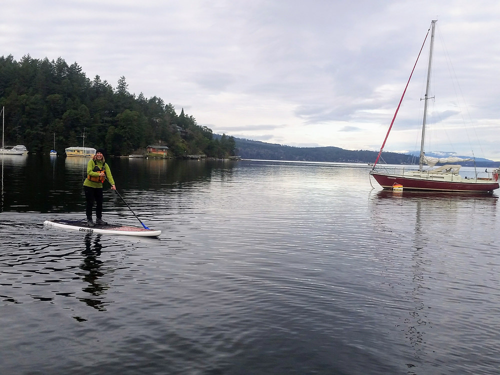 Winter Paddleboarding, Tod Inlet