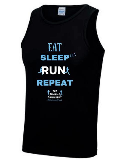 Men's Tech Running Vest - Eat, Sleep, Run, Repeat