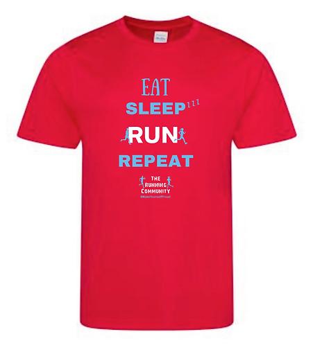 Men's Tech Running T - Eat, Sleep, Run, Repeat